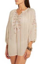 Melissa Odabash Avalon embroidered voile top