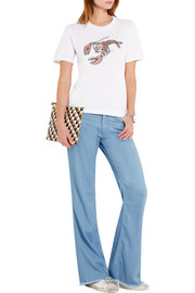 Markus Lupfer Lobster sequined cotton-jersey T-shirt