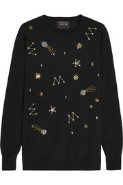 Natalie embellished merino wool sweater