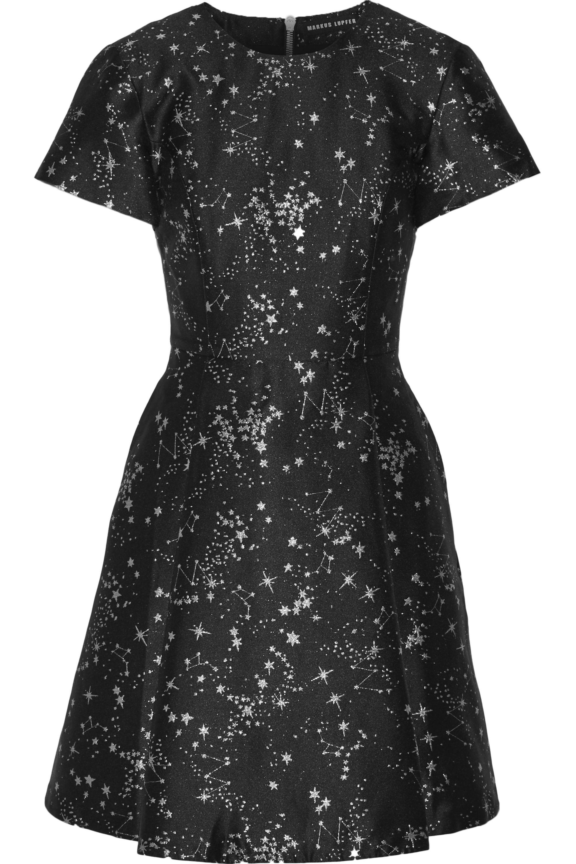 Markus Lupfer Constellation Irena jacquard mini dress