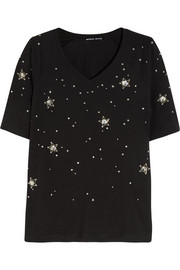 Constellation Stars embellished cotton-jersey T-shirt