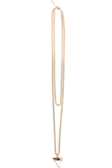 c8b3b6423d8ab Shark Tooth necklace in pale gold-plated brass and Plexiglas®