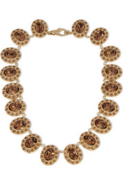 Givenchy Necklace in gold-tone brass and crystal