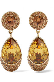 Givenchy Earrings in gold-tone brass and crystal