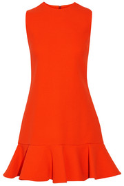 Victoria, Victoria Beckham Fluted wool mini dress