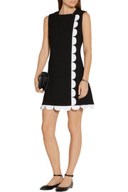 Victoria, Victoria Beckham Scalloped wool-gabardine mini dress