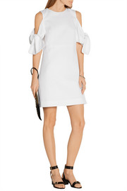 Victoria, Victoria Beckham Knotted cotton-piqué mini dress