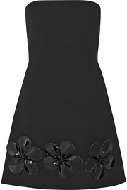 Embellished wool-gabardine mini dress