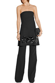 Victoria, Victoria Beckham Embellished wool-gabardine mini dress