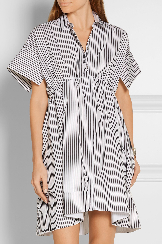 Victoria, Victoria Beckham Striped cotton-poplin shirt dress