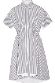 Victoria, Victoria Beckham Striped cotton-poplin shirt dress