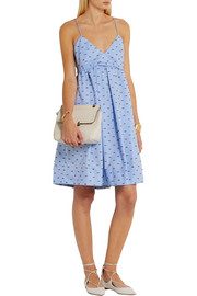 Victoria, Victoria Beckham Embroidered cotton-piqué dress