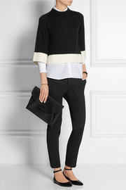 Victoria, Victoria Beckham Cropped wool and cashmere-blend sweater