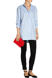 Victoria, Victoria Beckham Oversized embroidered cotton-piqué shirt