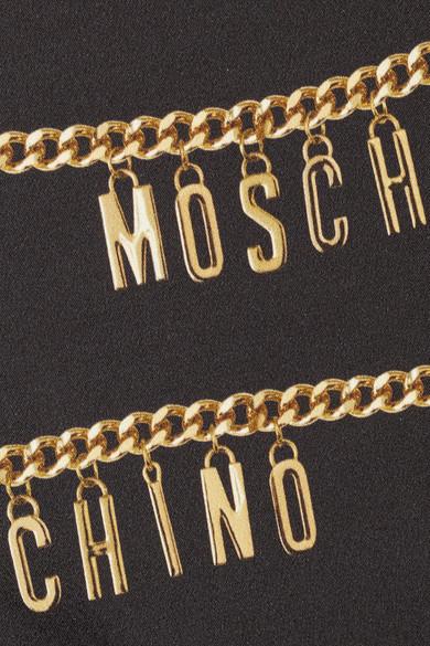 5f552f36e1 Moschino | Printed stretch-crepe dress | NET-A-PORTER.COM