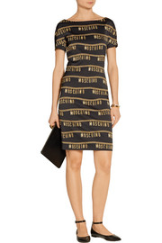 Moschino Printed stretch-crepe dress