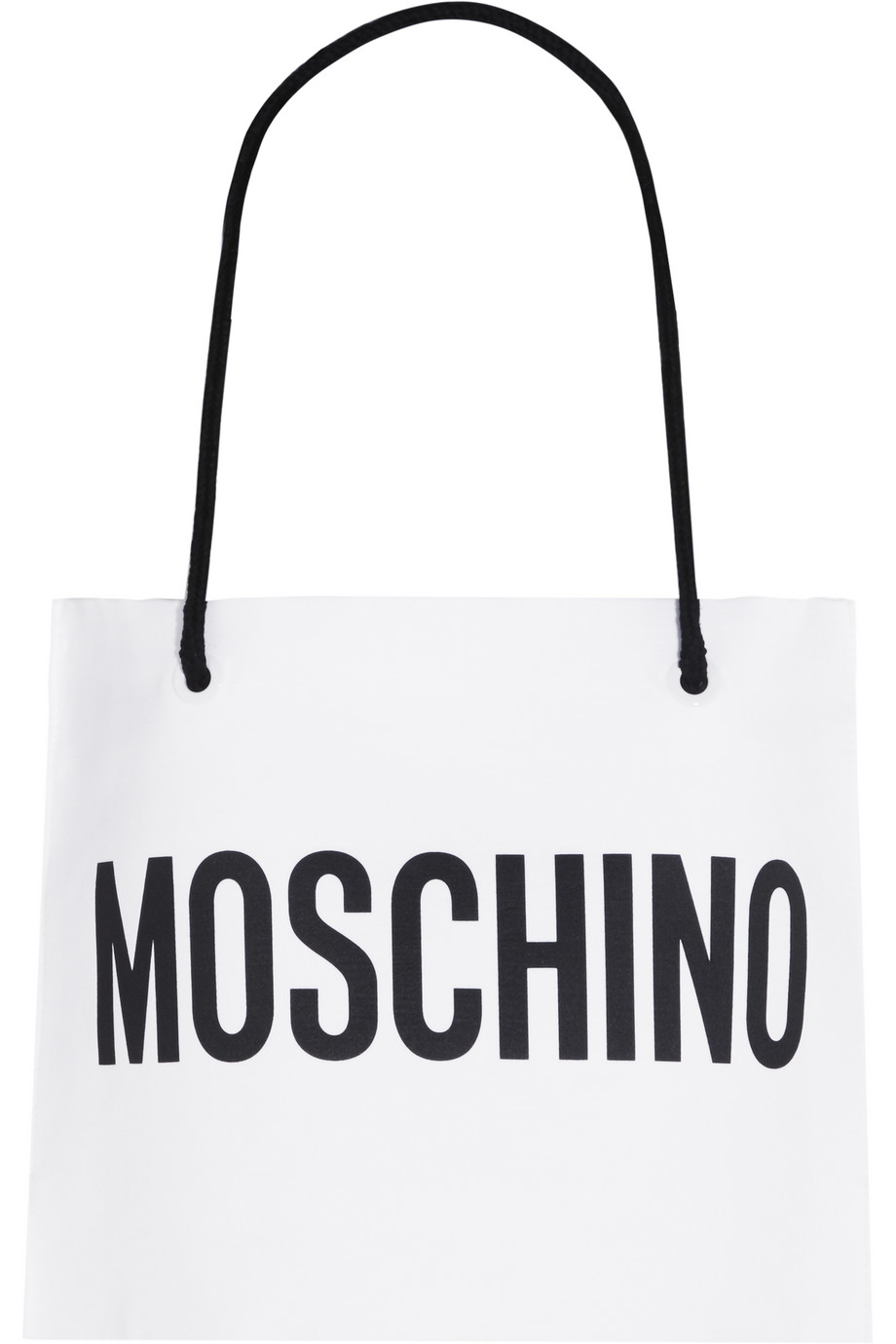 Moschino Cropped Printed Cotton Top, White, Women's, Size: 46