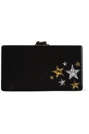 Jean Star Cluster glittered acrylic box clutch
