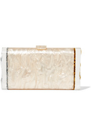 Lara Backlit glittered acrylic box clutch