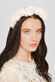 Flock silk-jacquard headband