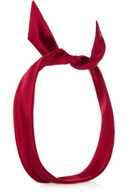 Fork silk-satin headband