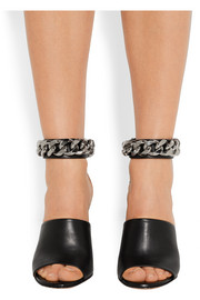 Givenchy Raquel chain-embellished sandals in black leather