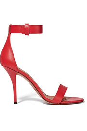 Retra sandals in red leather