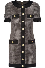 Cotton-blend tweed mini dress