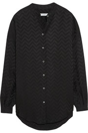 Henri chevron silk shirt