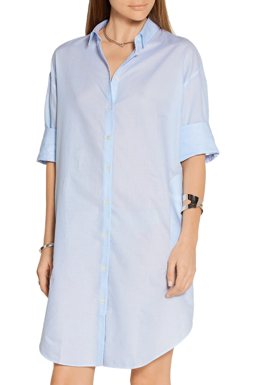 Acne Studios Lash oversized striped cotton shirt dress