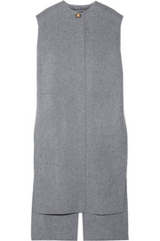 Vento oversized wool and cashmere-blend vest