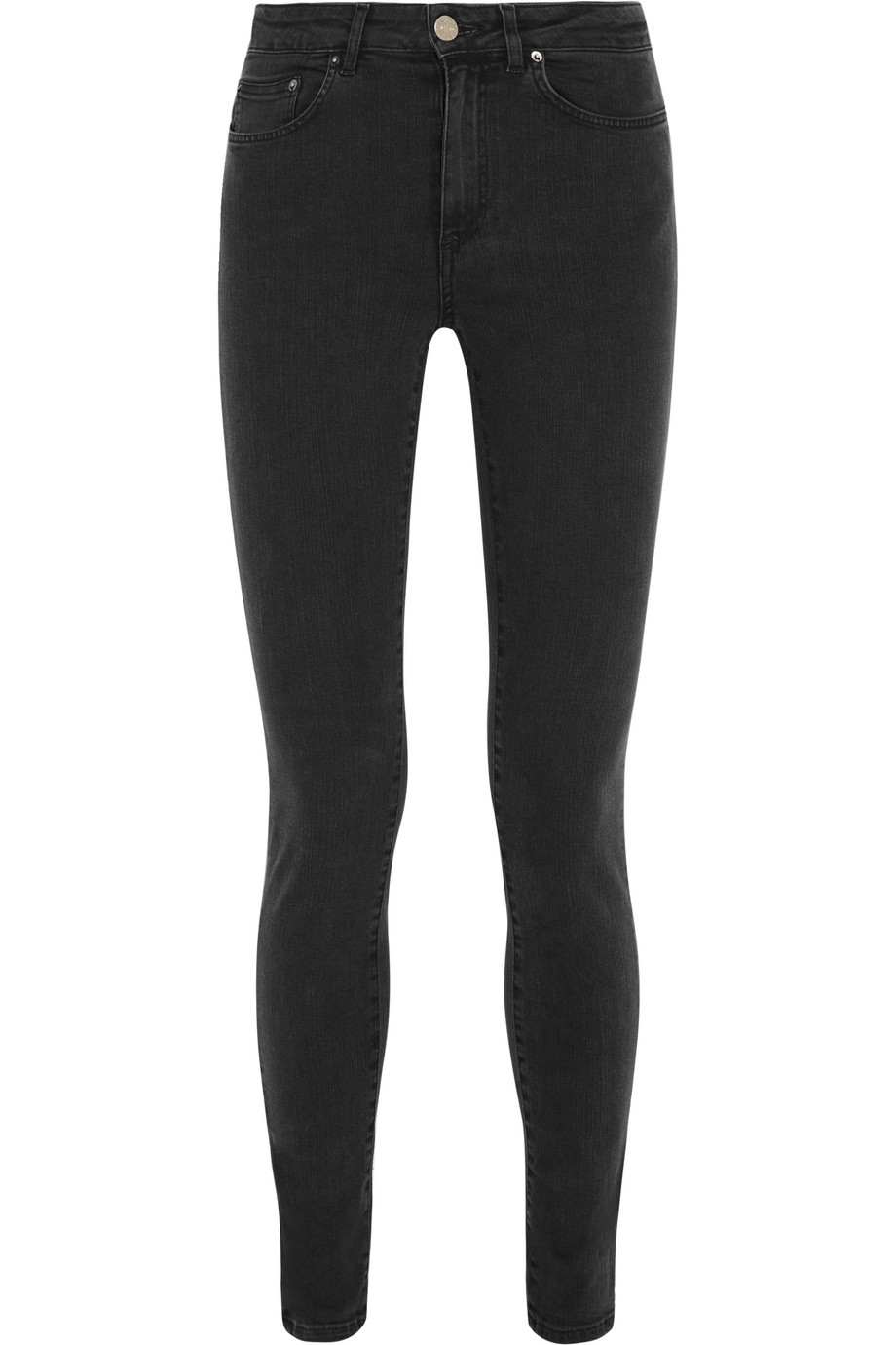 Acne Studios Pin High-Rise Skinny Jeans, Black, Women's, Size: 24