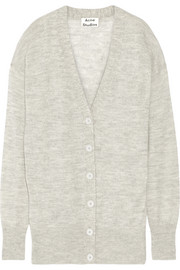 Acne Studios Rhoda oversized mélange alpaca and merino wool-blend cardigan