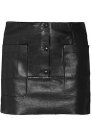 Koby leather mini skirt