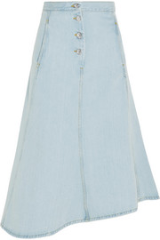 Kady asymmetric denim midi skirt