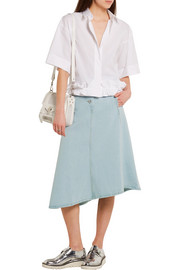 Acne Studios Kady asymmetric denim midi skirt