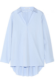 Lain oversized cotton-poplin top