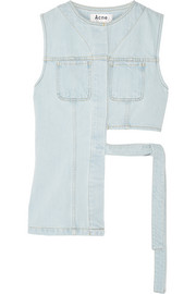 Acne Studios Gelder asymmetric denim top