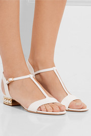 Nicholas Kirkwood Casati embellished patent-leather sandals
