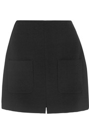 Stretch-crepe mini skirt