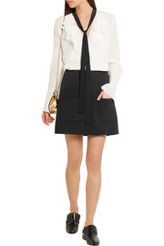 See by Chloé Stretch-crepe mini skirt