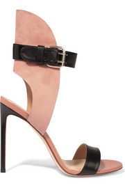 Francesco Russo Leather and suede sandals