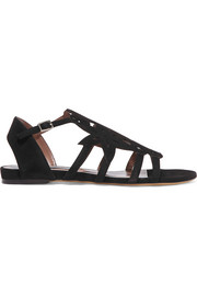 Ramble laser-cut suede sandals