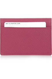 Smythson Panama textured-leather cardholder