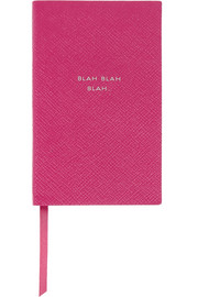 Panama Blah Blah Blah textured-leather notebook