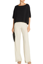 Helmut Lang Stretch ramie-blend crepe wide-leg pants
