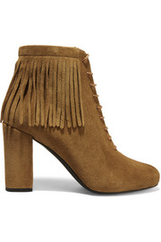 Babies fringed suede boots