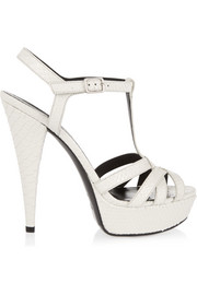 Jodie snake-effect leather sandals