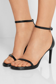 Jane textured-leather sandals