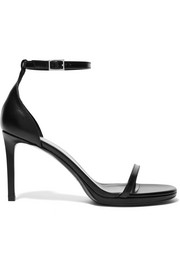 Saint Laurent Jane textured-leather sandals
